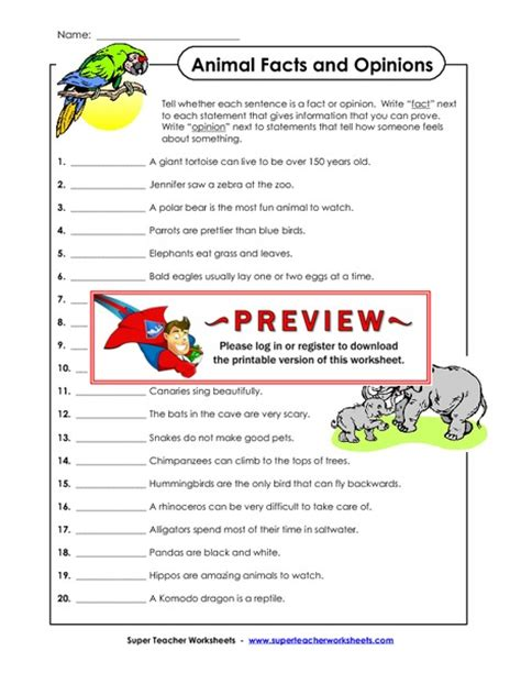 Fact And Opinion Worksheets by Fact Or Opinion Worksheet 4th Grade Fact Or Opinion Worksheetsworksheetspinterest U2022 The