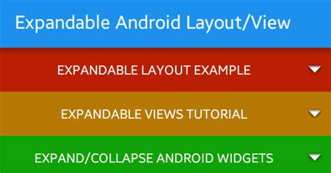 android layout tutorial android expandable layout tutorial with exle viral android tutorials exles ux ui design