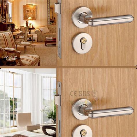 Living Room Door Handles Steel Alloy Stealth Interior Locks European Bedroom