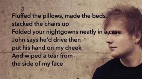 ed sheeran supermarket flowers lyrics ed sheeran supermarket flowers lyrics youtube
