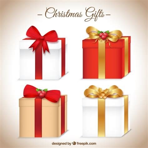 christmas gifts icon collection vector free download