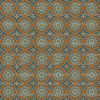 iframe seamless pattern set 1 pattern 1 orange blue black tribal style fabric