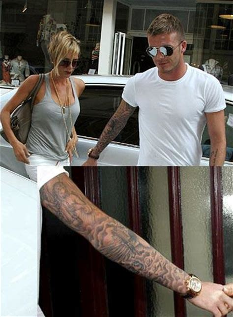 Beckham Thinks Arms Are Flabby 2 by Pictures Collection Tattoos From Checkoutmyink