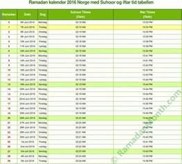 Kalender Norge 2018 Ramadan Kalender 2017 Kalender 2017