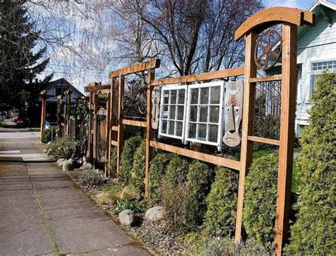 awesome wood material creating unique fence ideas designed with stripes style covering 33 creative garden fencing ideas ultimate home ideas