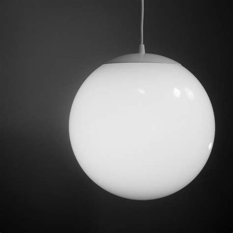pendant light large 12 inch glass globe mid century modern