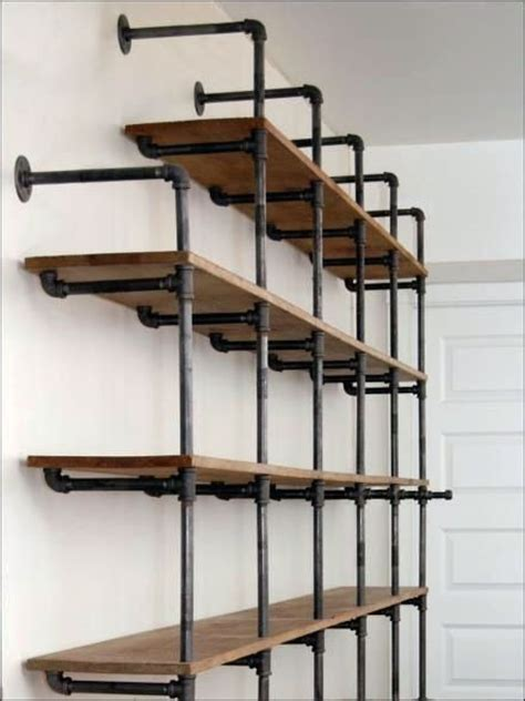 1000 ideas about galvanized pipe shelves on