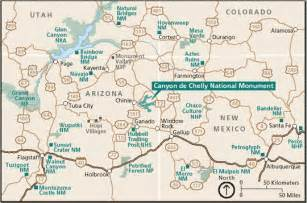 chinle arizona map de chelly 187 by