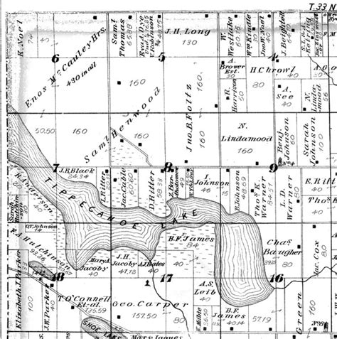 Kosciusko County Records Index To Kosciusko Co In 1879 Atlas Map