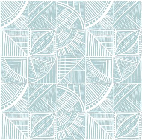 blue pattern lino orange boat sailing end paper lino print patterns
