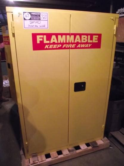 used flammable storage cabinet sale bm90 90 gallon flammable cabinet new surplus s d
