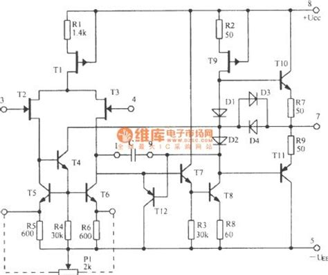 integrated circuits operational lifiers the circuit diagram of 5g28 integrated operational lifier other circuit