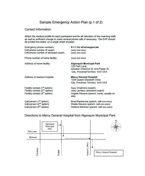 Osha Emergency Action Plan Template Gallery Template Design Ideas Osha Emergency Plan Template