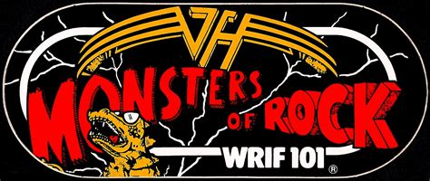 Cutting Sticker Band Halen radio sticker of the day monsters of rock wrif