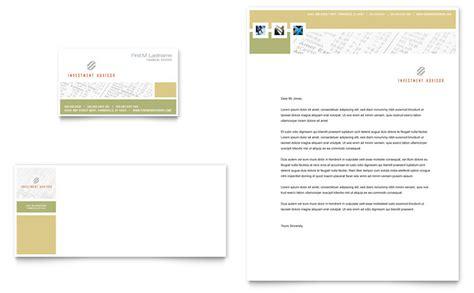 Department Of Finance Letterhead Investment Advisor Business Card Letterhead Template Word Publisher