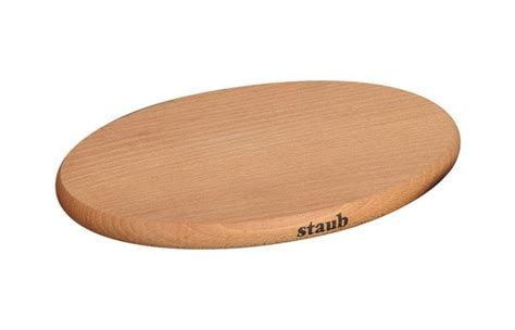 Staub Oval Magnetic Wooden Trivet, 11.375 inch   Cutlery