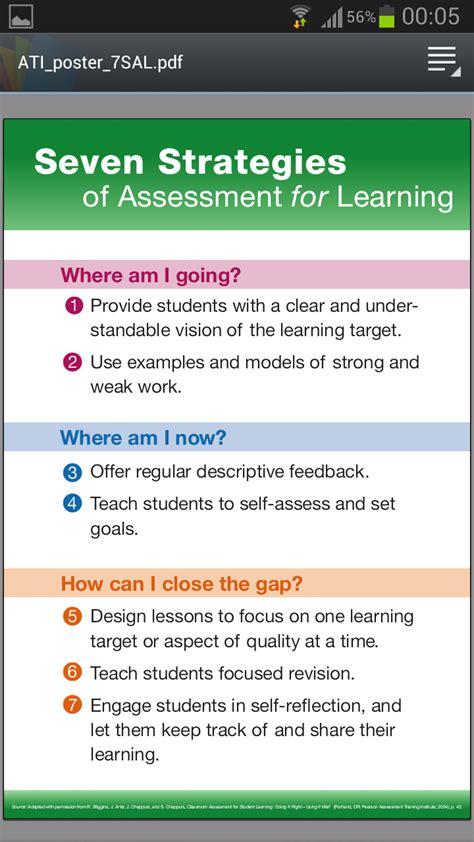 themes educational assessment afl 7 strategies school days assessment pinterest