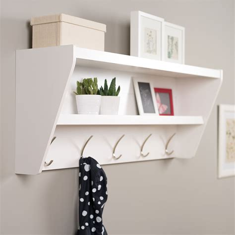 entryway shelves floating coat rack and entryway shelf