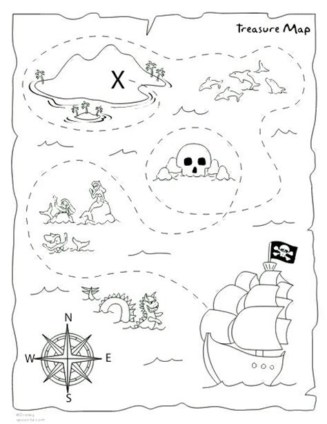 printable maps for crafts diy treasure map printable pirate party pinterest