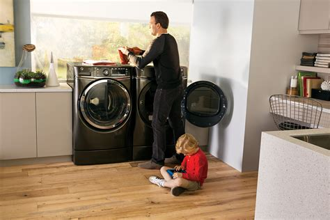 washer with built in height matters ge s new ergo friendly frontload washer