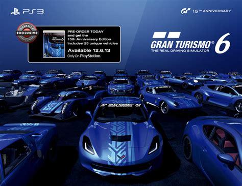 Software Ps3 Gran Turismo 6 15th Anniversary Edition Terlaris gran turismo 6 anniversary edition preorders