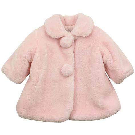 Baby Coat baby graziella pink fur coat pink baby from