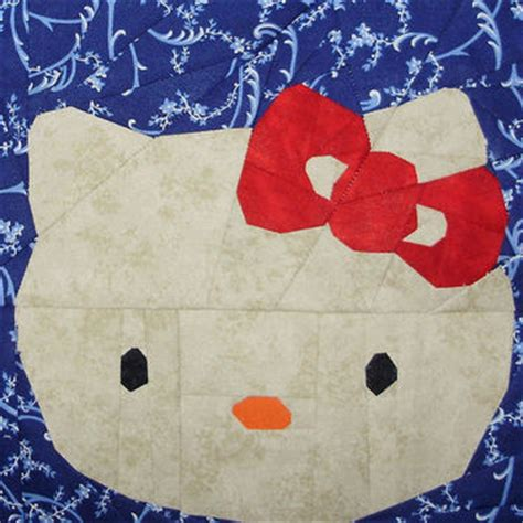 pattern paper los angeles hello kitty paper piecing pattern quilt from