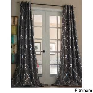 modern pattern curtains casablanca modern metallic trellis pattern curtain panel