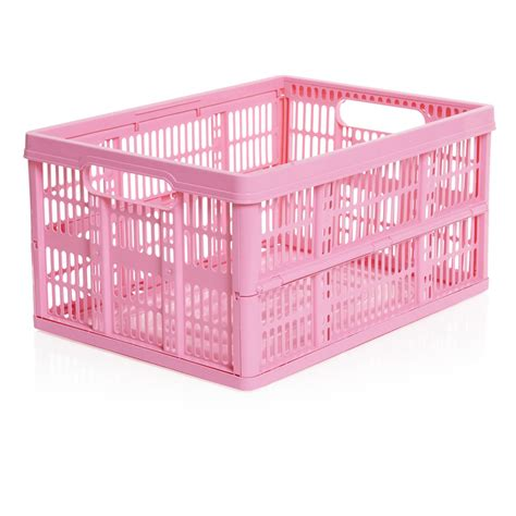 pink crate fold flat crate pink