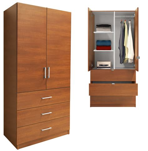 alta wardrobe armoire  drawer wardrobe shelves hangrod contempo space