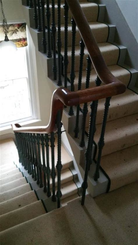 Cast Iron Stair Spindles 19th Century Cast Iron Staircase Spindles And Oak Handrail