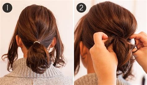 how to up your hair in a pony tail when its layered pony up how to make short hair look full in a ponytail