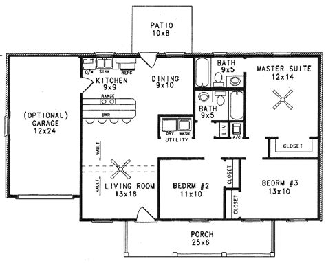 farmhouse style house plan 3 beds 2 baths 1120 sq ft