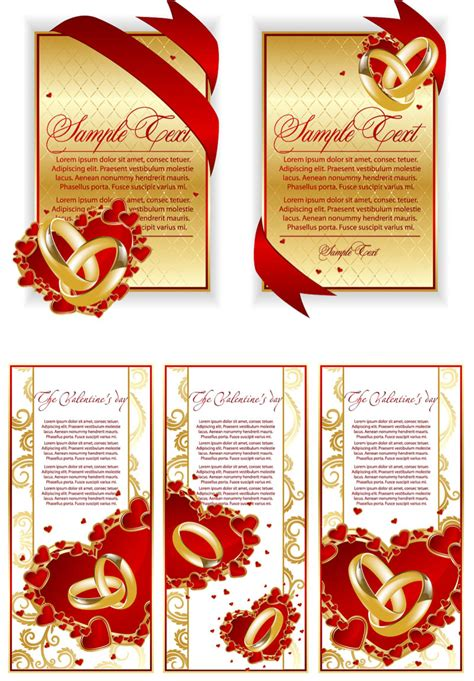 free vector template wedding card unique wedding invitation card design template free