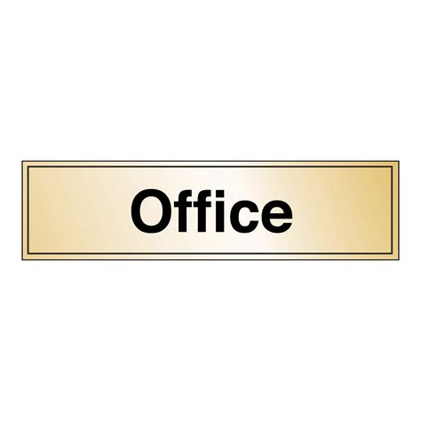 Office Sign In Prestige Gold And Silver Effect Office Safety Sign Gold