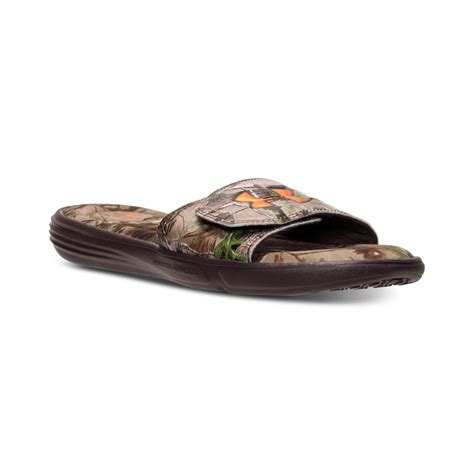 mens camo armour sandals armour s ignite iii camo slide sandals from