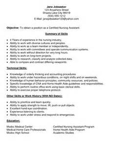 Resume For Cna With No Experience Resume Exle 30 Cna Resumes With No Experience Cna Resumes Exles Cna Template Resume