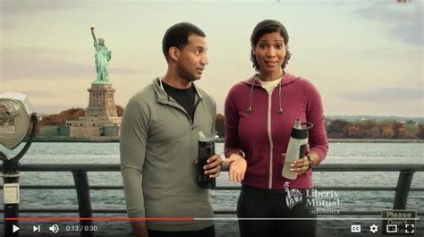 that fine black girl on that liberty mutual commercial who is the large breasted on the liberty commercial who