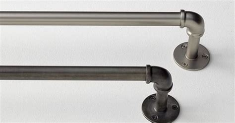 industrial style curtain rods diy industrial curtain rods industrial curtain rod