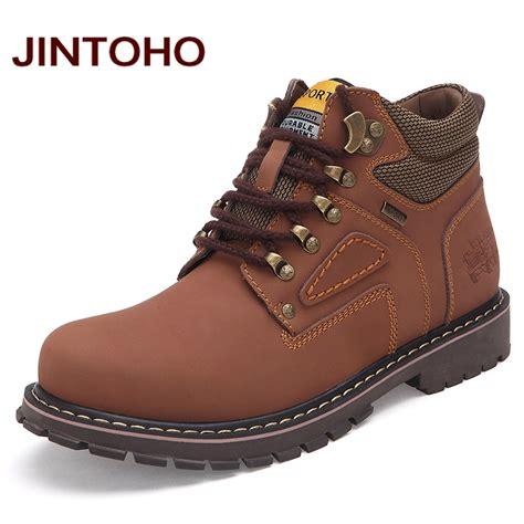 big mens work boots jintoho big size ankle boots high quality genuine