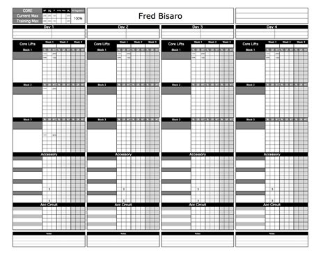 template strength training log template workout excel strength
