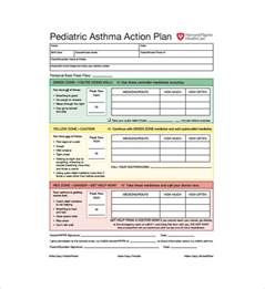 asthma action plan template 10 free word excel pdf