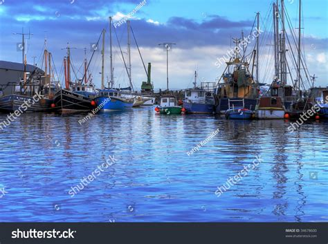 sea fishing boat license ireland fishing boats in harbor of galway ireland stock photo