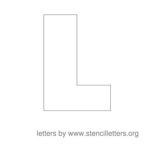 Large L Large Stencil Letters Stencil Letters Org