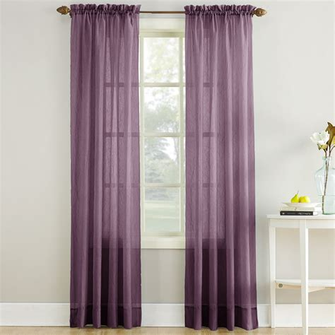crushed voile curtains erica crushed sheer voile curtain panel in purple