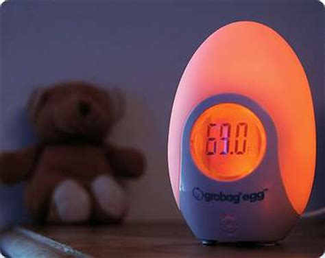 glowing baby safety pods grobag egg changes color to