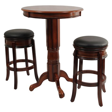 Pub Style Dining Room Tables boraam magellan 3 piece pub table set bar amp pub tables