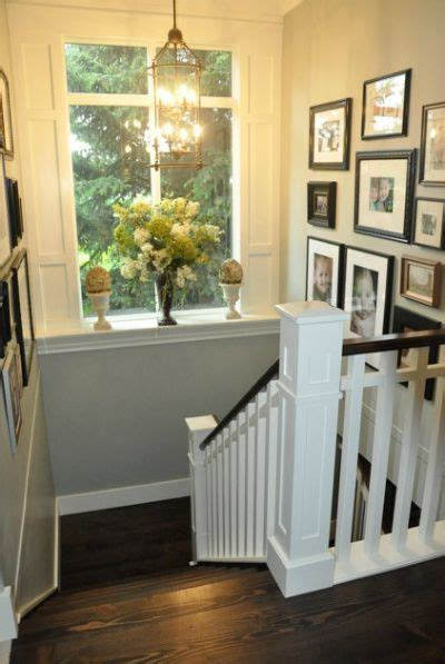 what does banister wood handrail the white and window lights on