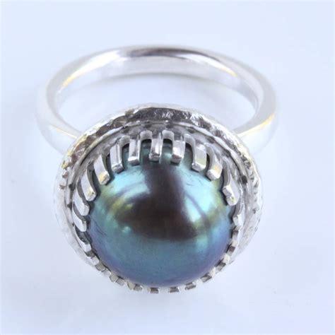 Handmade Pearl Rings - handmade silver pearl ring june birthstone by caroline