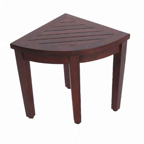 Bathroom Stools With Storage Oasis Bathroom Teak Corner Shower Seat Stool Chair Bench Sitting Storage Or Foot Rest